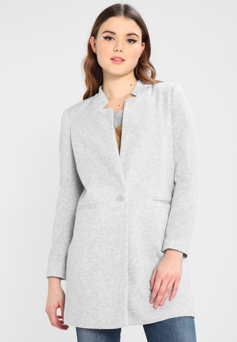 Vero Moda - VMJUNE LONG  - Cappotto corto - light grey melange