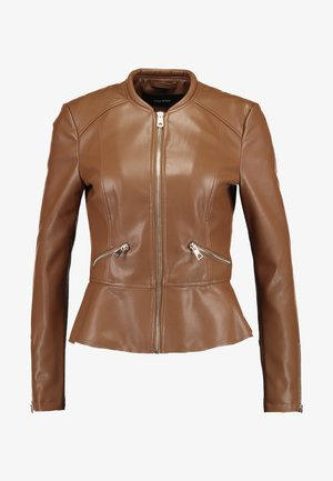 VMEBRU BUTTER SHORT FAUX  - Giacca in similpelle - cognac