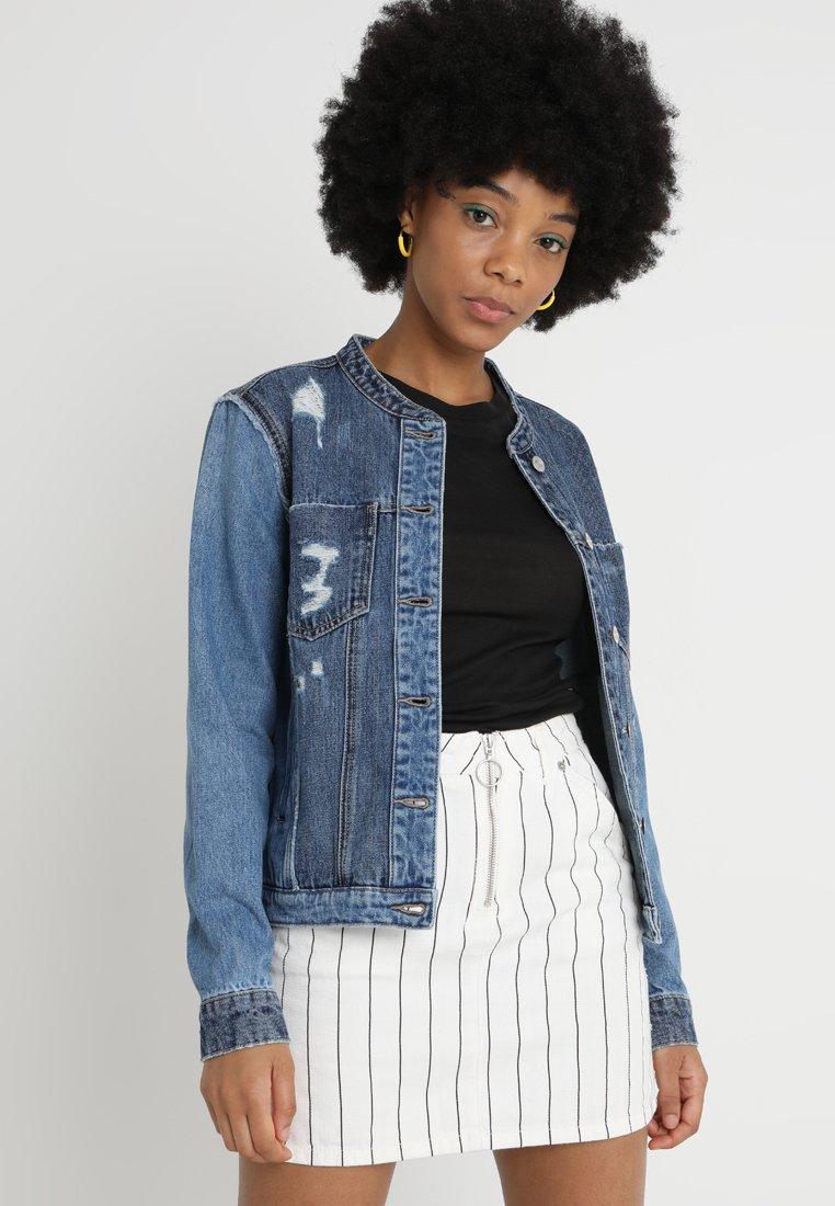 Vero Moda - VMMIKKY  REWORKED - Denim jacket - medium blue denim