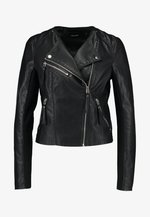 VMRIA SHORT JACKET - Faux leather jacket - black