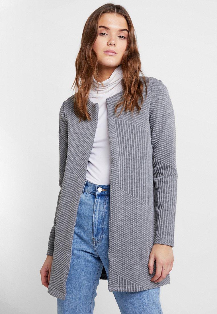Vero Moda - VMNANCY LONG - Blazer - medium grey melange