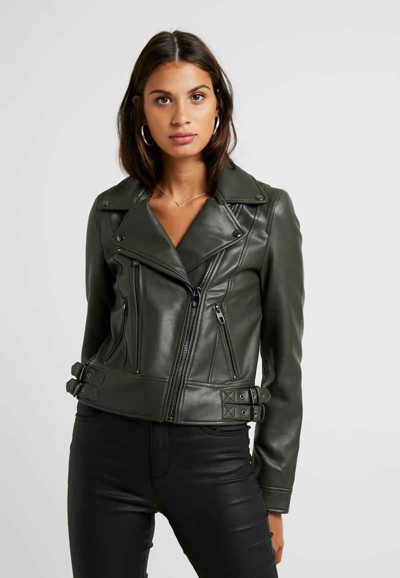 Vero Moda - VMCOOL SHORT COATED JACKET - Faux leather jacket - peat