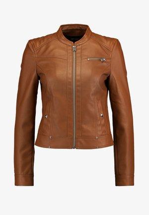 VMSHEENA SHORT JACKET - Faux leather jacket - cognac