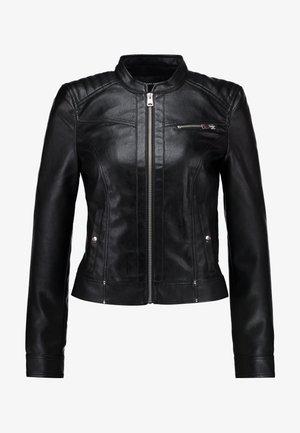 VMSHEENA SHORT JACKET - Faux leather jacket - black