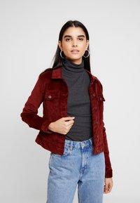 Vero Moda - VMSOYA SLIM JACKET - Summer jacket - madder brown - 0
