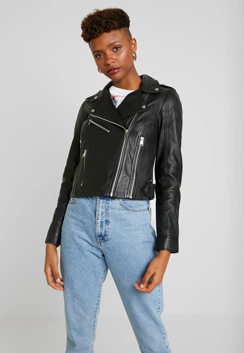 Vero Moda - VMJOSEFINE JACKET - Leather jacket - black