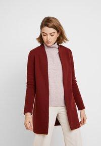 Vero Moda - VMBRINE LONG - Krátký kabát - madder brown - 0