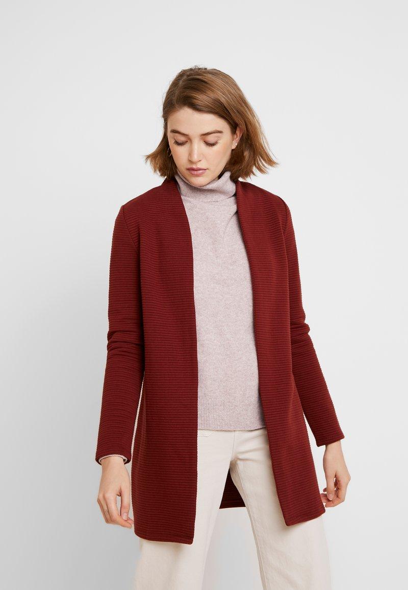 Vero Moda - VMBRINE LONG - Krátký kabát - madder brown
