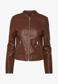 Vero Moda - VMRIAMARTA  - Faux leather jacket - rocky road - 4