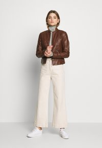 Vero Moda - VMRIAMARTA  - Faux leather jacket - rocky road - 1