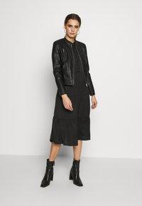 Vero Moda - VMBUTTERYOU  - Faux leather jacket - black - 1