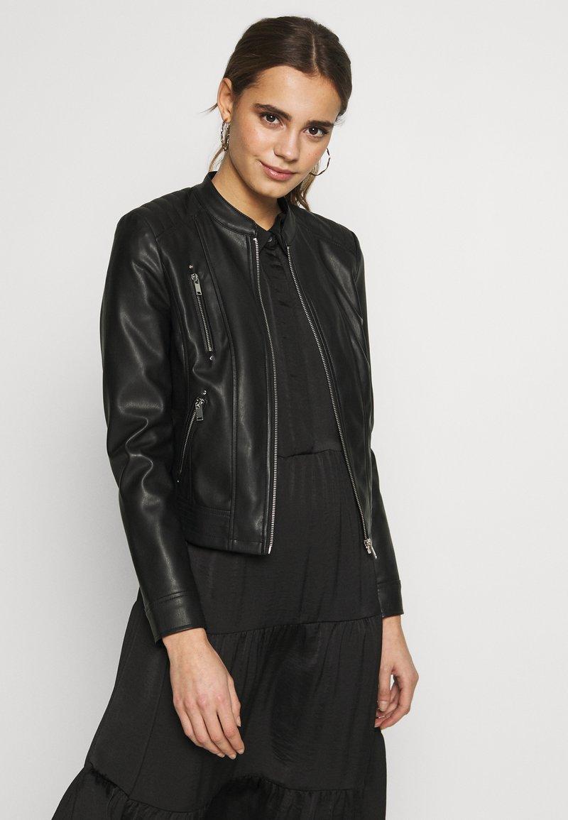 Vero Moda - VMBUTTERYOU  - Imitatieleren jas - black