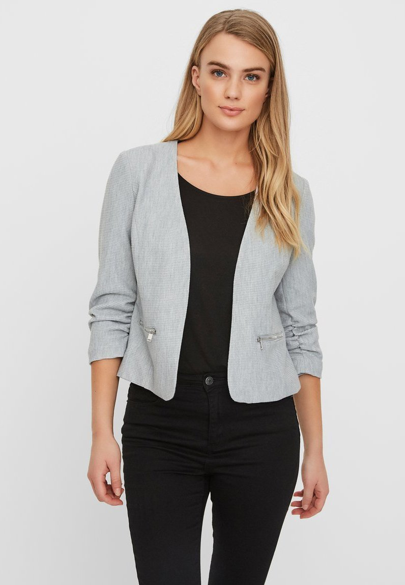Vero Moda - Blazer - light grey melange