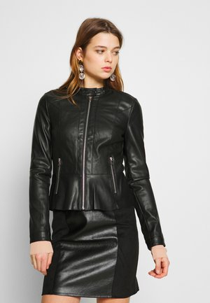 NORTH SHORT JACKET  - Kunstlederjacke - black