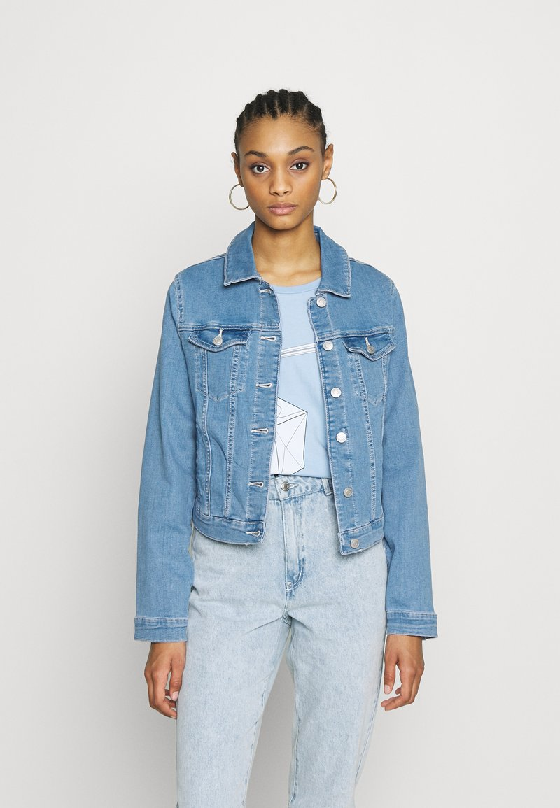 Vero Moda - VMULRIKKA JACKET MIX  - Denim jacket - light blue denim