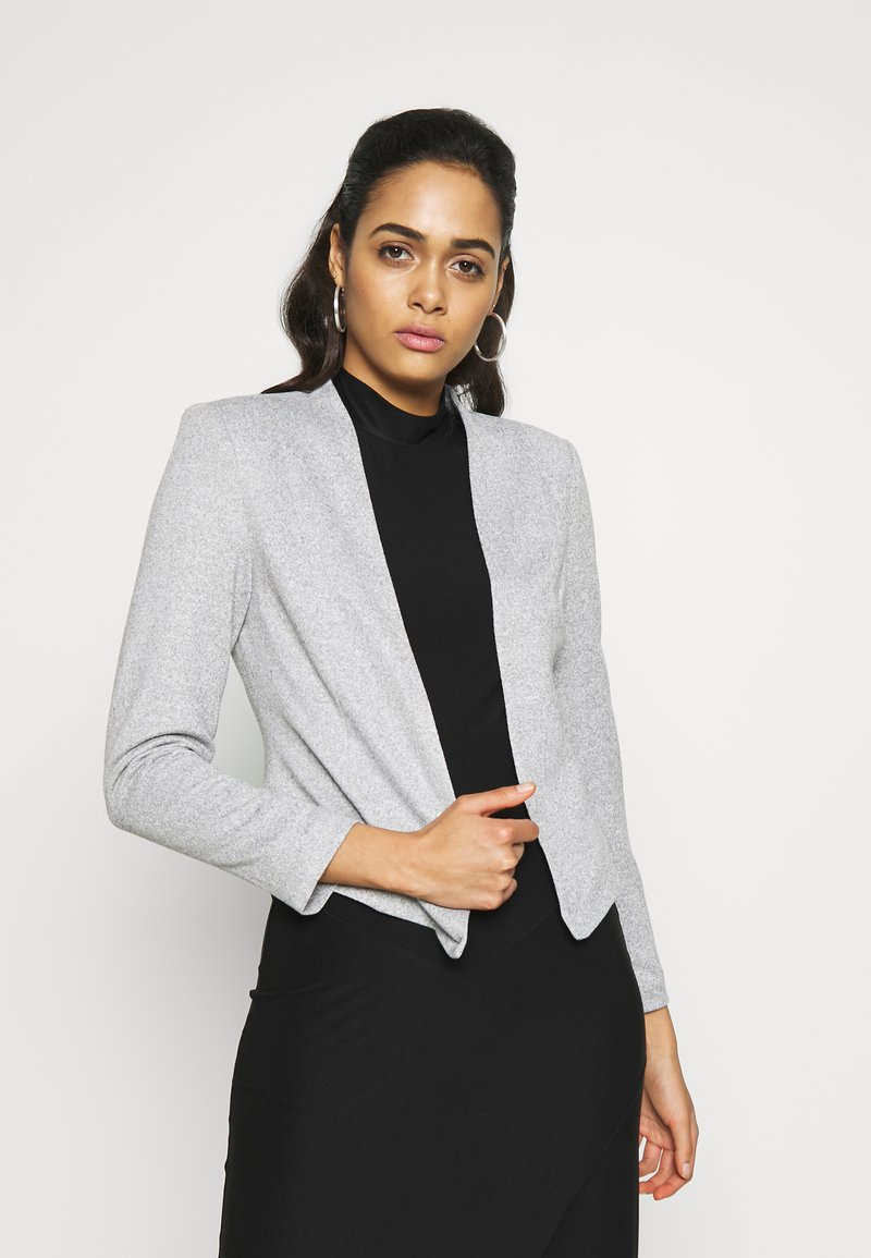 Vero Moda - VMJANEY SHORT - Blazer - light grey melange