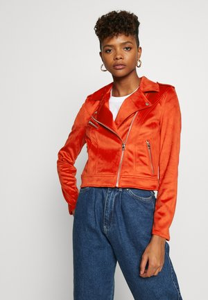 YESLEA - Faux leather jacket - aurora red