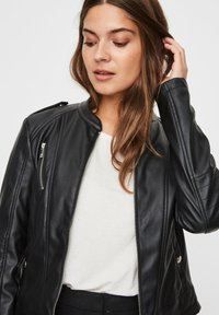 Vero Moda - Faux leather jacket - black - 3