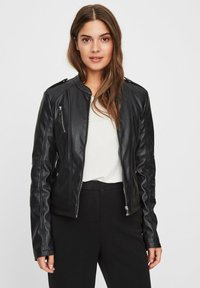 Vero Moda - Faux leather jacket - black - 0