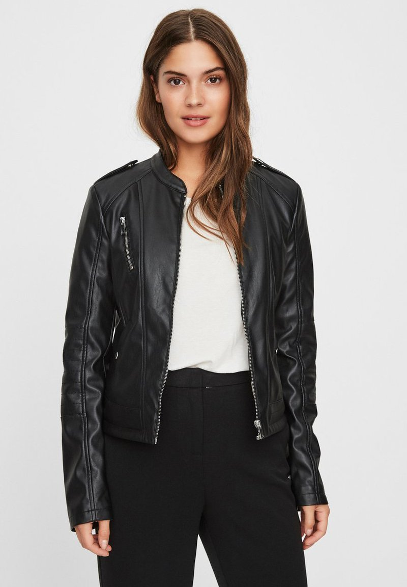Vero Moda - Faux leather jacket - black