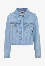 VMKATRINA CROP JACKET - Džínová bunda - light blue denim