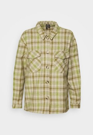 VMELIN CHECKED OVERSIZED - Skjortebluser - oatmeal/green/blue