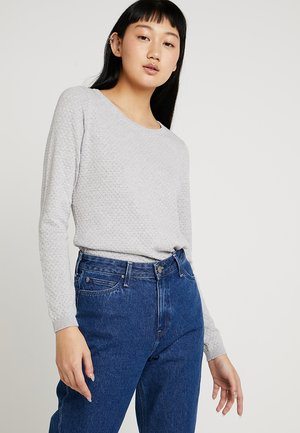 VMCARE STRUCTURE LS O-NECK BLOUSE N - Jumper - light grey melange