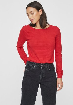 Strickpullover - chinese red