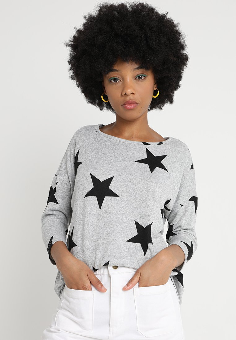 Vero Moda - VMMALENA - Strickpullover - light grey melange