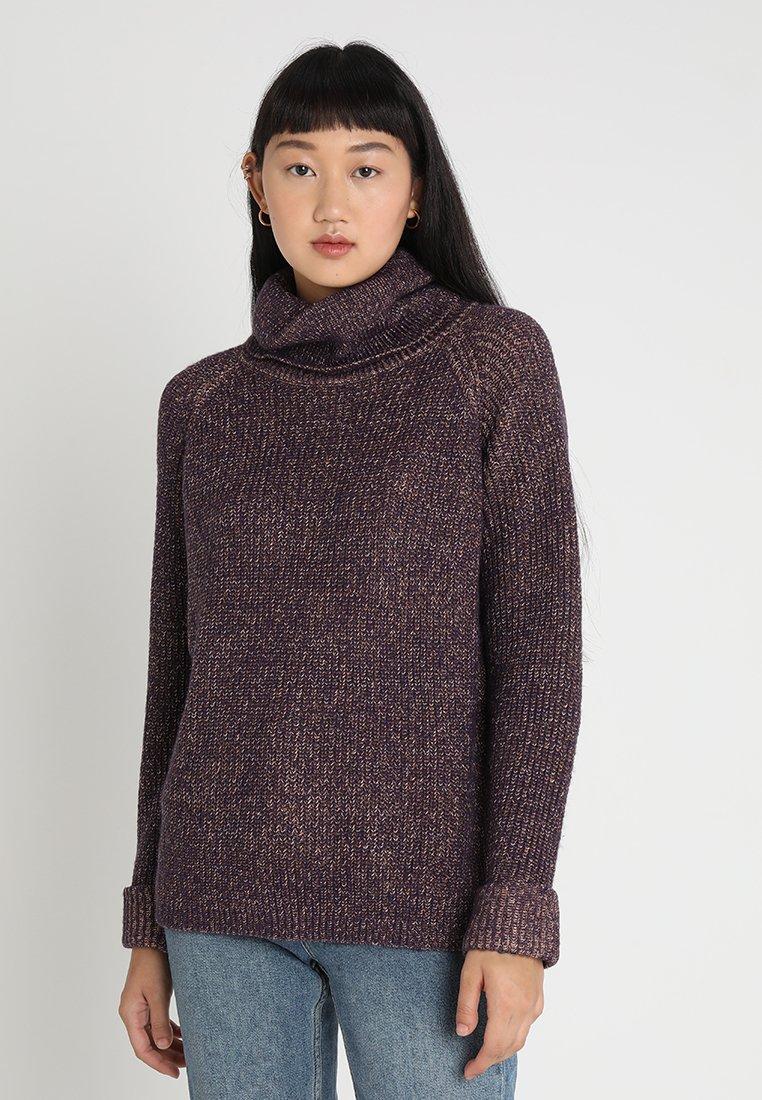 Vero Moda - VMDRIZZLE COWLNECK - Jumper - purple/tobacco brown