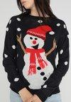 Vero Moda - VMSNOW O NECK CHRISTMAS - Strickpullover - night sky/pristine/tobacco bro