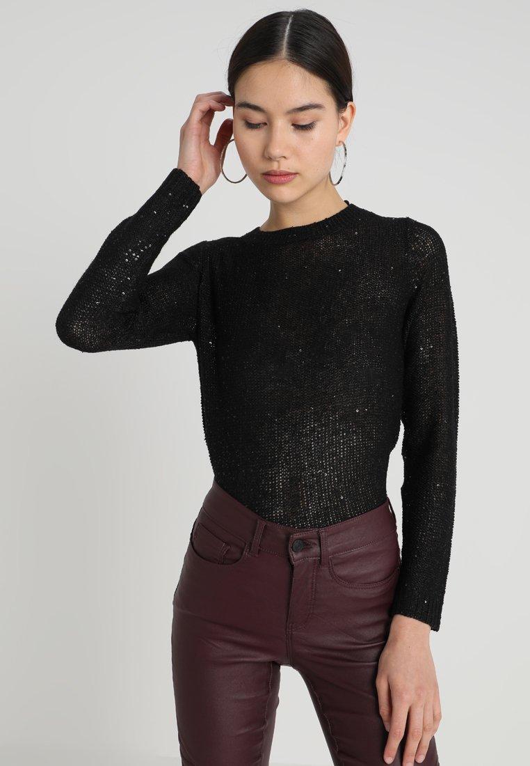 Vero Moda - VMLEILANI - Strickpullover - black