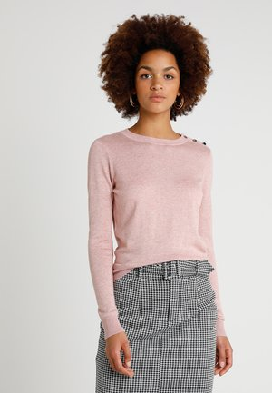 VMMILDA O NECK BUTTON  - Strickpullover - misty rose