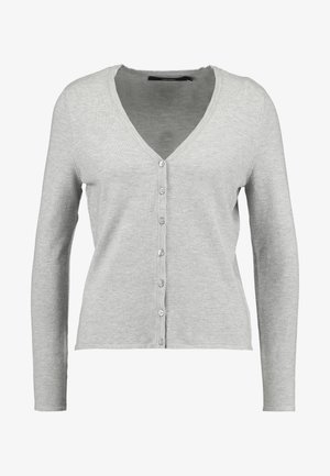 VMHAPPY BASIC V NECK CARDIGAN - Kofta - light grey melange