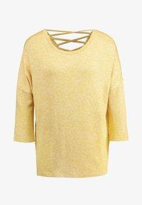 Vero Moda - VMBRIANNA - Jersey de punto - spicy mustard/birch melange - 4