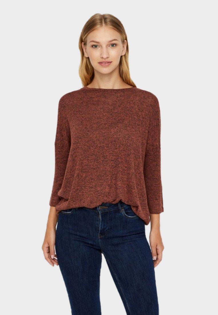 Vero Moda - VMBRIANNA - Strickpullover - brown