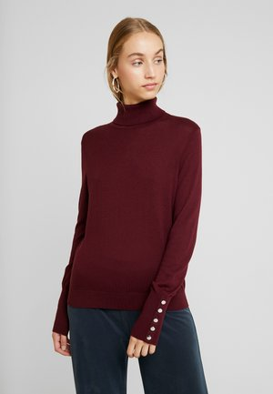 VMMILDA ROLLNECK BUTTON - Stickad tröja - port royale