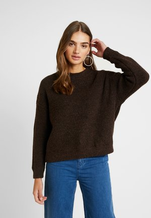 VMIMAGINE LS O-NECK - Strikpullover /Striktrøjer - coffee bean