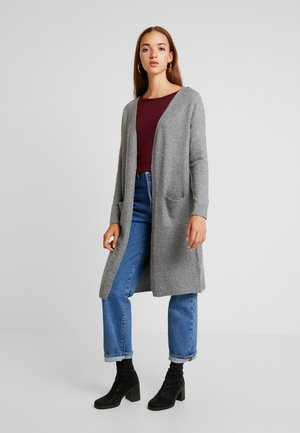 VMBRILLIANT LONG OPEN CARDIGAN - Kardigan - medium grey melange
