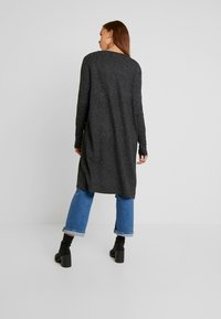 Vero Moda - VMBRILLIANT LONG OPEN CARDIGAN - Cardigan - black/melange - 2
