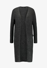 Vero Moda - VMBRILLIANT LONG OPEN CARDIGAN - Cardigan - black/melange - 3