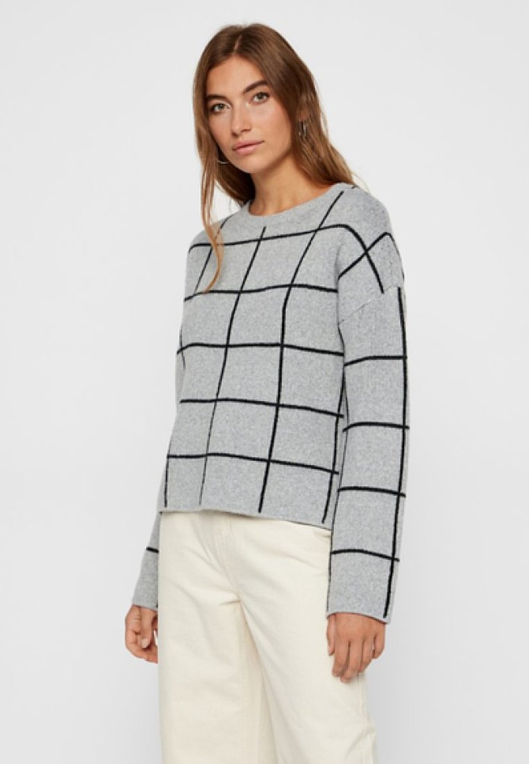 Vero Moda - VMDOFFY - Stickad tröja - light grey melange