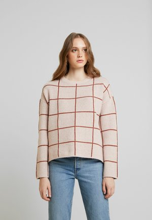 VMDOFFY - Pullover - misty rose/mahogany