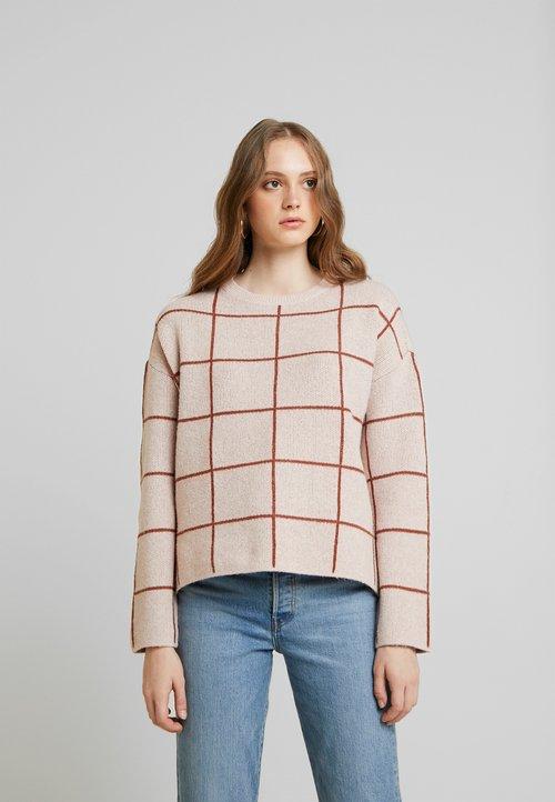 Vero Moda VMDOFFY - Sweter - misty rose/mahogany Odzież Damska OVGU-CF1 wylot