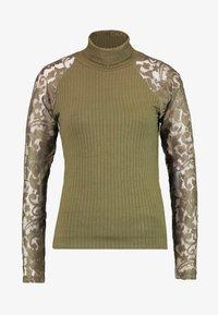 Vero Moda - VMBRIANNA ROLL NECK - Jumper - ivy green - 3