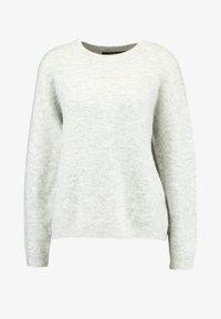 Vero Moda - VMBLAKELY IVA O-NECK - Strikkegenser - light grey melange/snow melange - 3