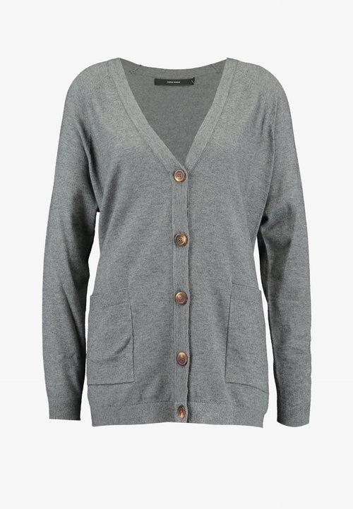 nowy Vero Moda VMCHOU KARIS BUTTON CARDIGAN - Kardigan - medium grey melange Odzież Damska ZIMM-MJ6