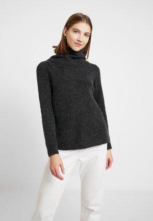 VMBLAKELY IVA COWLNECK - Sweter - dark grey melange