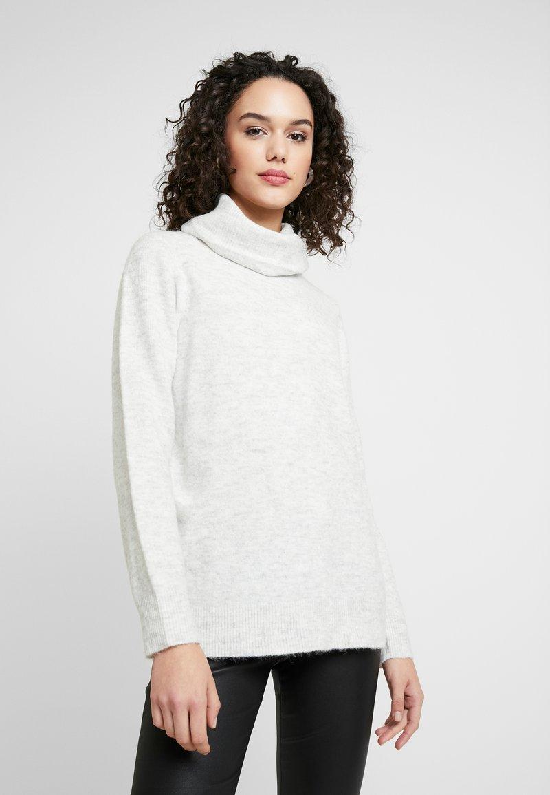 Vero Moda - VMBLAKELY IVA COWLNECK - Pullover - light grey melange/snow melange
