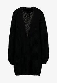 Vero Moda - VMPOCA OPEN COATIGAN - Cardigan - black - 4